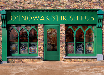 Personalized Irish Pub 7x5 Folded Card