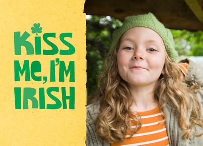 Kiss Me Irish 7x5 Folded Card