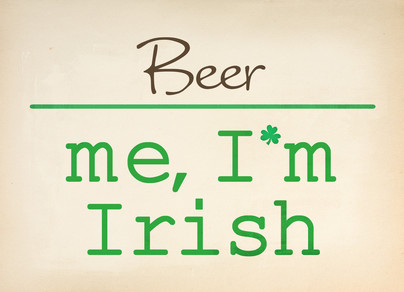 Blank Me Irish 7x5 Folded Card