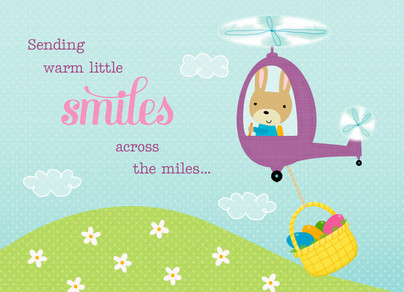 Warm Easter Smiles 7x5 Folded Card