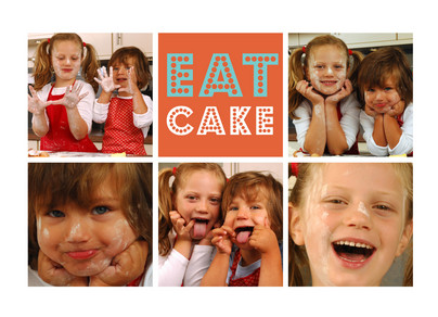 Eat Birthday Cake 7x5 Folded Card