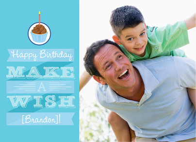Make Birthday Wish 7x5 Folded Card