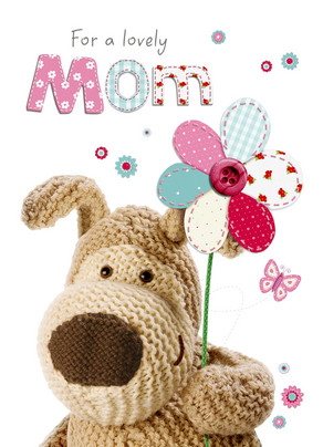 Boofle Flower for Mom 5x7 Folded Card