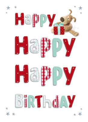 Boofle Happy Happy Happy 5x7 Folded Card