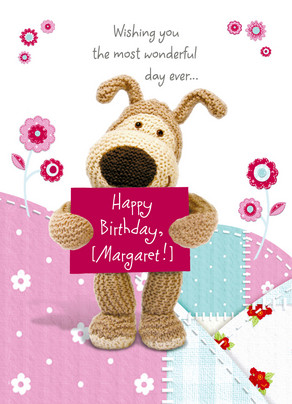 Boofles Birthday Banner 5x7 Folded Card