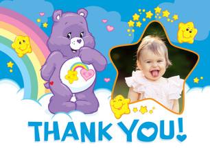 Star Care Bear Thanks 5.25x3.75 Folded Card