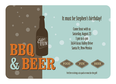 Beer Bottle 7x5 Flat Card