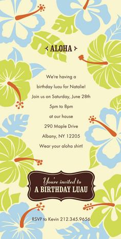 Aloha Hibiscus 4x8 Flat Card