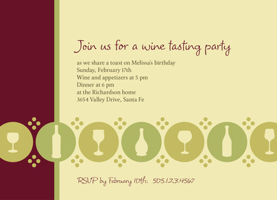 Wine Tasting Party 7x5 Flat Card