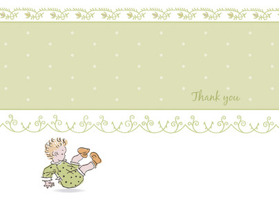 Tumbling Toddlers Note 5.25x3.75 Folded Card