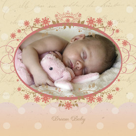 Dream Baby 4.75x4.75 Folded Card