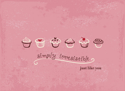 Irresistible Love 5.25x3.75 Folded Card