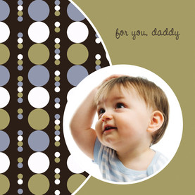Dad Small Circles 4.75x4.75 Folded Card