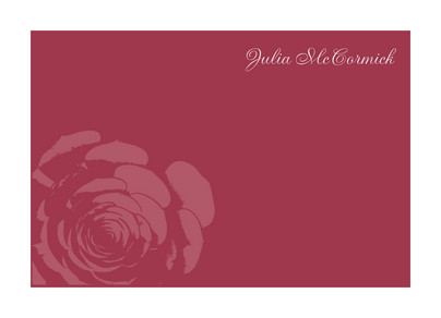 Red Rose Note 5.25x3.75 Folded Card