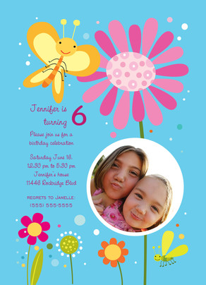 Butterfly Smile Birthday 5x7 Flat Card