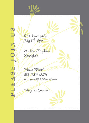 Lime Daisy Party 5x7 Flat Card
