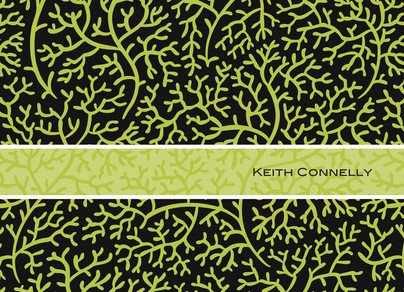 Lime Coral Note 5.25x3.75 Folded Card