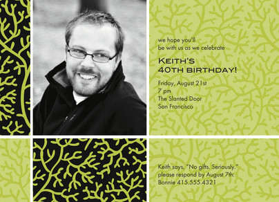 Lime Coral Birthday 7x5 Flat Card