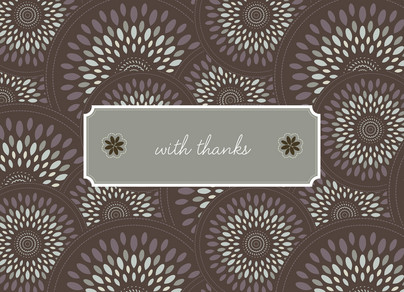 Blush Brown Feathers 5.25x3.75 Folded Card