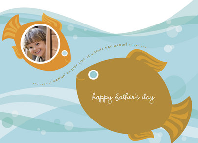 Baby Fish Daddy Fish 7x5 Folded Card