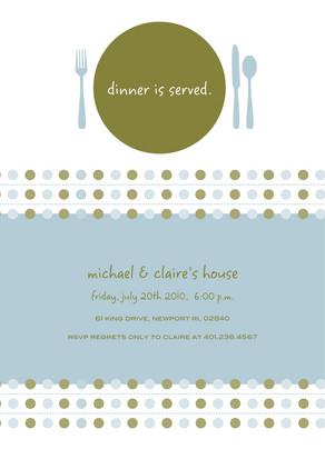 Dinner Served 5x7 Flat Card