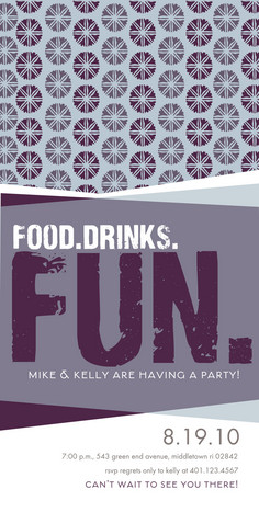Food Drinks Fun 4x8 Flat Card