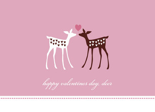 Deer Love 5.25x3.75 Folded Card