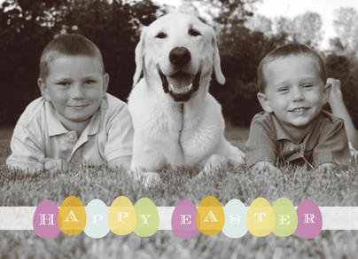 Happy Easter Eggs 7x5 Folded Card