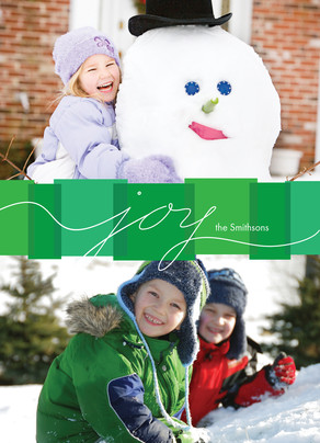 Green Box Joy 5x7 Flat Card