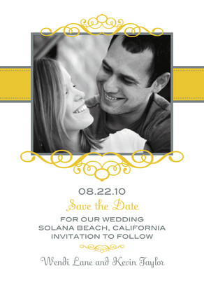 Yellow Frame Date 5x7 Flat Card