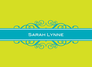 Lime and Cyan 5.25x3.75 Folded Card