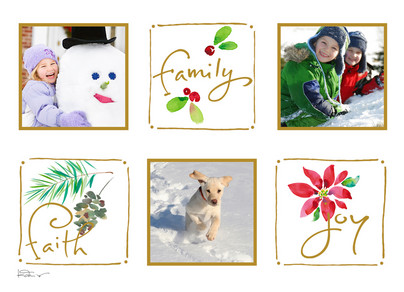 Faith Family Joy 7x5 Folded Card
