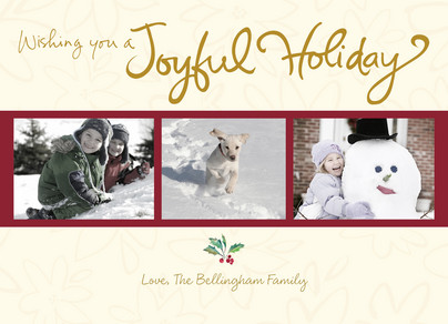 Joyful Holiday 7x5 Flat Card