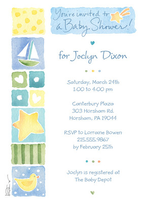 Sailor Baby Shower 5x7 Flat Card