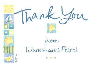 Sailor Thank You 5.25x3.75 Folded Card