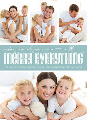 Shining Merry Everything 5x7 Flat Card