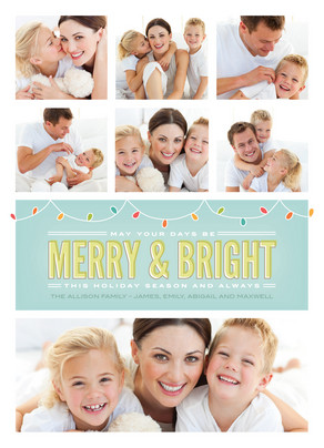 Merry Bright Lights 5x7 Flat Card