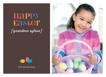 Multi Colored Egg Easter 7x5 Flat Card