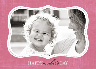 Pink Mom Frame 7x5 Folded Card