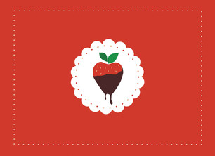 Chocolate Strawberry 5.25x3.75 Folded Card