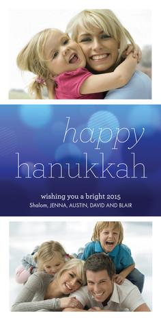 Hanukkah Light Blur 4x8 Flat Card