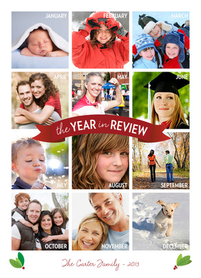 White Vertical Year in Review 5x7 Flat Card