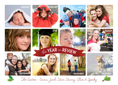 Year in Review 7x5 Flat Card