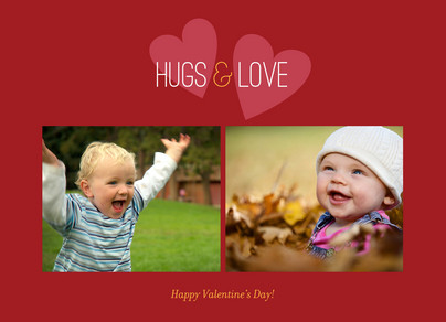 Hugs and Love 7x5 Folded Card