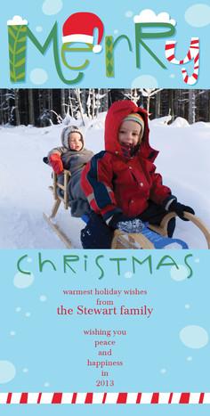 Very Merry Christmas 4x8 Flat Card