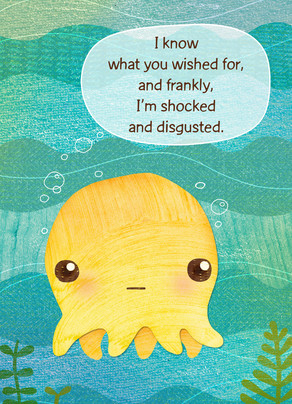 Octopus Wish 5x7 Folded Card