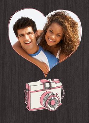 Camera Heart Frame 5x7 Folded Card