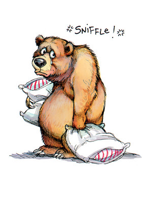 Bear Sniffles 5x7 Folded Card