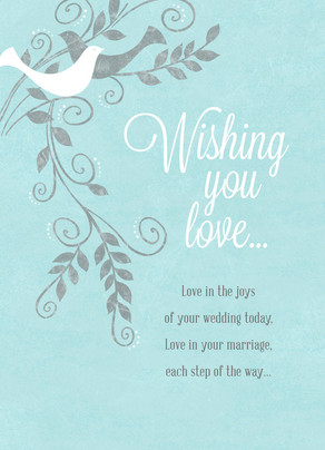 wishing you love 5x7 folded card - Congratulations Cards