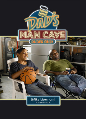 Dads Man Cave 5x7 Folded Card